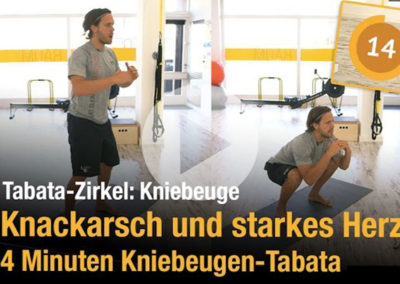 """""""Knackarsch"""" und starkes Herz – 4 Minuten Kniebeugen-Tabata zum Mitmachen"""