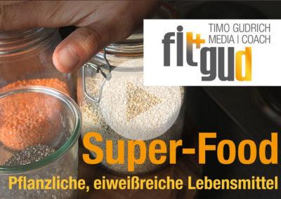 Pflanzliche Eiweißquellen: Quinoa, Chia und rote Linsen (Super-Foods)