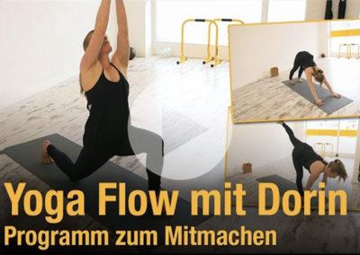 Yoga Flow mit Dorin – Sonnengrüße und Asanas 20 Minuten Programm