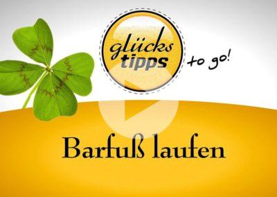 Glückstipps to go: Barfuß laufen