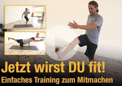 Fitness-Einsteigerprogramm – Jetzt wirst DU fit! Einfaches Training zum Mitmachen
