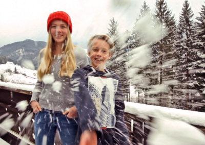 Familien-Wintertage mit Alpenblick in Oberstaufen